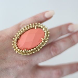 Kendra Scott Statement cocktail ring in Coral